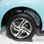 Accessorized Datsun Go at Auto Expo 2014 alloy wheel
