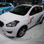 Accessorized Datsun Go at Auto Expo 2014 front quarter