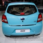 Accessorized Datsun Go at Auto Expo 2014 rear blue 2
