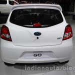 Accessorized Datsun Go at Auto Expo 2014 rear