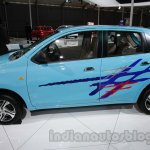 Accessorized Datsun Go at Auto Expo 2014 side blue