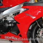 Aprilia RSV4 R ABS engine cowl at Auto Expo 2014