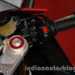 Aprilia RSV4 R ABS engine kill switch at Auto Expo 2014