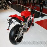 Aprilia RSV4 R ABS rear three quarters at Auto Expo 2014