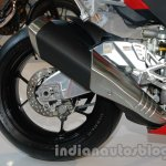 Aprilia RSV4 R ABS rear tire at Auto Expo 2014