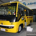 Ashok Leyland MiTR school bus front three quarter live