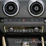 Audi A3 sedan AC controls at Auto Expo 2014