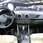 Audi A3 sedan dashboard at Auto Expo 2014