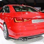 Audi A3 sedan rear three quarters at Auto Expo 2014