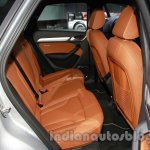 Audi Q3 special edition Auto Expo rear seat