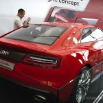 Audi Sport Quattro Concept rear three quarters at the 2014 Goodwood Festival of Speed