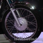 Auto Expo 2014 Hero Splendor Pro Classic Cafe Racer front wheel