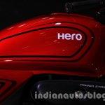 Auto Expo 2014 Hero Splendor Pro Classic Cafe Racer tank