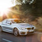 BMW 4 Series Gran Coupe press shots front quarter