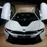 BMW i8 front with scissor doors live