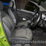 Chevrolet Beat Facelift front seat at 2014 Auto Expo