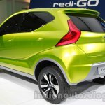 Datsun Redi-Go rear three quarters at Auto Expo 2014