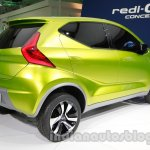 Datsun Redi-Go rear three quarters right at Auto Expo 2014