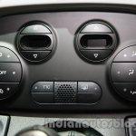 Fiat 500 Abarth aircon controls at Auto Expo 2014