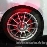 Fiat 500 Abarth alloy wheel at Auto Expo 2014
