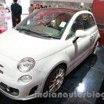 Fiat 500 Abarth front three quarters right at Auto Expo 2014