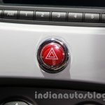 Fiat 500 Abarth hazard light switch at Auto Expo 2014