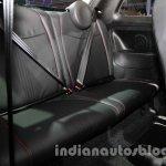 Fiat 500 Abarth rear seat at Auto Expo 2014