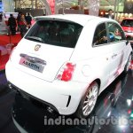 Fiat 500 Abarth rear three quarters right at Auto Expo 2014