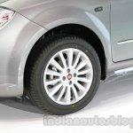 Fiat Linea facelift alloy wheel design at Auto Expo 2014