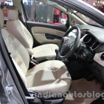 Fiat Linea facelift front seats at Auto Expo 2014