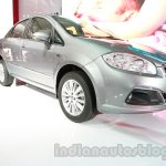 Fiat Linea facelift front three quarters left at Auto Expo 2014