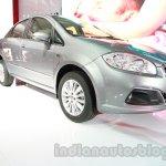 Fiat Linea facelift front three quarters left at Auto Expo 2014
