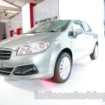 Fiat Linea facelift frontt three quarters at Auto Expo 2014