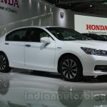 Honda Accord Hybrid front three quarters at Auto Expo 2014