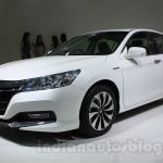 Honda Accord front three quarters right Hybrid at Auto Expo 2014