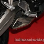 Honda CBR650F foot pegs at Auto Expo 2014