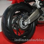 Honda CBR650F rear wheel at Auto Expo 2014