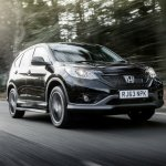 Honda CRV Black and White edition UK black moving