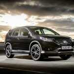 Honda CRV Black and White edition UK front black