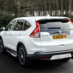 Honda CRV Black and White edition UK white rear
