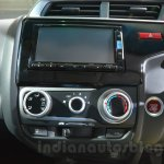 Honda Jazz center console at 2014 Auto Expo