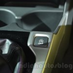 Honda Jazz start-stop system button at 2014 Auto Expo