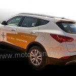 Hyundai Santa Fe India demo car spied rear