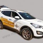 Hyundai Santa Fe India demo car spied