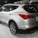 Hyundai Santa Fe at Auto Expo 2014 rear three quarters