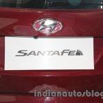 Hyundai Santa Fe at Auto Expo 2014 registration plate