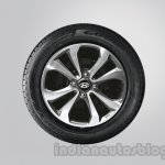 Hyundai Xcent diamond cut alloy wheel