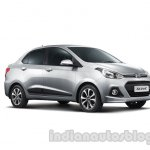 Hyundai Xcent front three quarters