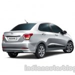 Hyundai Xcent rear three quarters