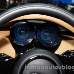 Jaguar C-X17 at 2014 Auto Expo instrument cluster